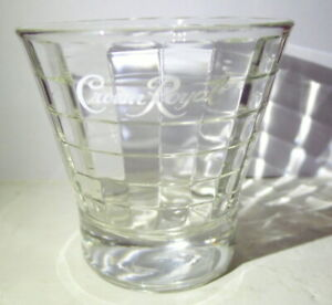 Crown Royal Lowball on the Rocks Whiskey Glass Faceted Vintage collectible