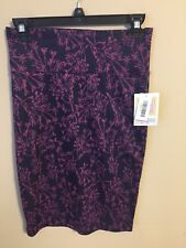 NWT LuLaroe cassie skirt size XS 23 inches long purple with dark purple