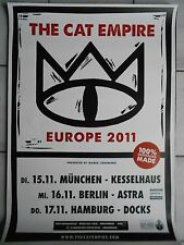 THE CAT EMPIRE 2011 TOUR   orig.Concert Poster  --  Konzert Plakat A1 .