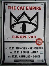THE CAT EMPIRE 2011 TOUR   orig.Concert Poster  --  Konzert Plakat A1 .