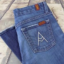 7 For All Mankind Jeans Size 28 Women's Bootcut A Pocket Sz 28/32