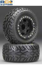 Pro-Line 1/16 Dirt Hawg Pre-Mounted Black Titus Wheels Tires E-Revo PRO1071-13