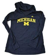 adidas Womens Michigan Wolverines Hooded Shirt New S, M