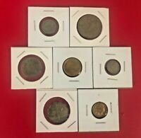 Middle East COINS LOT OF 7 ( SAME AS PICTURE )