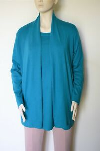 MARINA RINALDI, 2- Pieces, SILK Blend Sweater & Cardigan, Plus Size L
