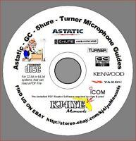 ASTATIC, GC, SHURE, TURNER CD Microphone Wiring Guides Handbook PDF Format on CD