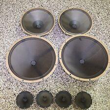 """Magnavox 15"""", 10"""", 4"""" Speakers AlNiCo Ribbed Cone Stereo HiFi 1950's to 1960's"""