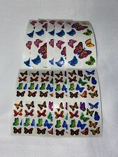 Sandylion butterfly stickers lot of 10 SHEETS 2 x 4