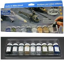 NEW Testors Aircraft Acrylic Paint Set For Plastic Model Kit TES9136