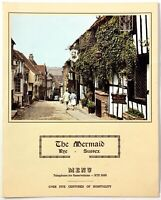 1960's Vintage Menu THE MERMAID INN Restaurant Rye Sussex England