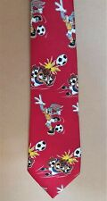 tasmanian devil/bugs bunny football suit tie