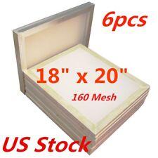 "6pcs 18"" x 20"" Aluminum Frame Silk Screen Printing Screens 160 Mesh USA Stock"