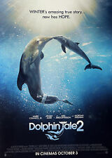 2 X DOLPHIN TALE 2 CINEMA POSTERS - WINTER DOLPHIN