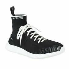 NWT DIOR HOMME Black Knit Lace Up B21 Sock Sneakers Shoes Size 9/42