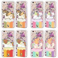 HEAD CASE UNICORN CHUBBY SILVER GLITTER CASE FOR APPLE iPHONE SAMSUNG PHONES