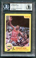 Robert Reid #23 signed autograph auto 1985-86 Star Basketball Card BAS Slabbed