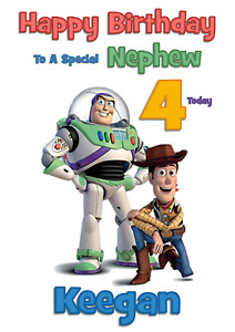 TOY STORY personalised A5 birthday card - any NAME AGE RELATIONSHIP