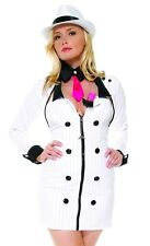 FORPLAY Mobster Minx Gangster Sexy Costume Dress Jacket Toy Gun Tie Choker S / M