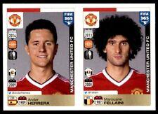 Panini FIFA 365 2016 – Herrera - Marouane Fellaini Manchester Utd No. 322 - 326