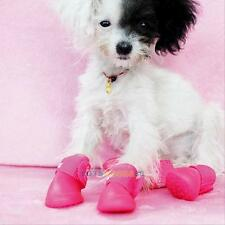 HOT Dog Cute Rain Boots PU Protective Waterproof Pet Shoes For Small Dog Size S