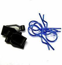 SGF-2B 1/10 1/8 Scale Medium Size RC Navy Blue Body Clips R Pins x 4 with Grips