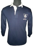 SCOTLAND SCOTTISH ADULTS RUGBY SHIRT RETRO THISTLE  FULL SLEEVE  ALL SIZES  NEW