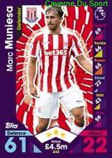242 Marc MUNIESA ESPANA STOKE CITY.FC CARDS PREMIER LEAGUE 2017  TOPPS