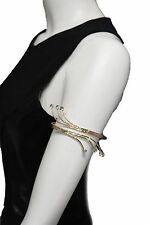 Women Gold Metal Cuff High Arm Bracelet Fashion Jewelry Wrap Around Retro Silver