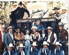 EDDIE DEAN & REX ALLEN: Western Movie Heroes: Color Photo Autographed