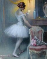 Home Art Wall Decor Girl Ballerina Oil Painting Picture Printed on Canvas