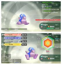 Pokemon Let's Go Pikachu & Eevee ✨ SHINY ✨ 6 IVs 1 LEVEL PORYGON FAST DELIVERY