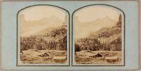 Suisse Ghiacciaio Da Rosenlaui Foto Stereo Ferrier? Vintage Albumina Ca 1855