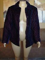 Lane Bryant Venezia Quilted Purple Iridescent Coat Jacket SIZE 22/24 NWT