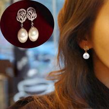 Earrings Luxury Eardrop Rose Flower Pearl Ear Stud Earrings Wedding Jewelry cn99