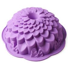 Chrysanthemum Bundt Cake Pan Bread Chocolate Bakeware Silicone Baking Mold Mould
