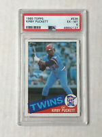KIRBY PUCKETT 1985 Topps ROOKIE RC #536! PSA EX-MT 6! TWINS! CHECK MY ITEMS!