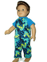 Truck Pajamas 18 in doll clothes fits American Girl Boy dolls