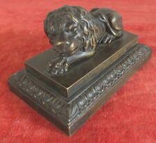 scultura statua leone bronzo 18eme debut 19eme stampa carta