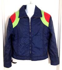 Edelweiss Skiwear Ski Jacket Mens Vtg Insulated Front Zip Winter Snow Coat Sz L
