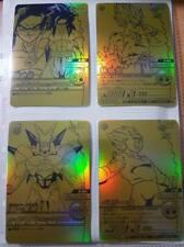 Carte Dragon Ball Z DBZ Data Carddass Bakuretsu Impact Part SP #G-001~004 Gold