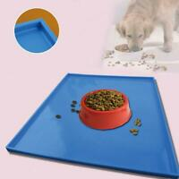 Cat Mat Dog Pet Feeding Water Food Dish Tray Wipe Clean Floor Placema Fast