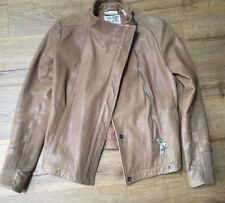 DKNY soft Brown Biker  leather jacket S