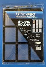 Brand New 9 Card Ultra Pro Black Frame Screwdown Holder Trading Card Display