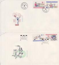 Czchoslovakia FDC + stamps 1984 Sport olympiad