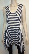 Unbranded Hand-wash Only Striped Sleeve Tops & Blouses for Women