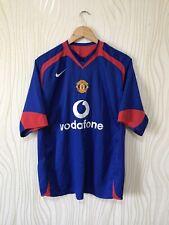 MANCHESTER UNITED 2005 2006 AWAY FOOTBALL SHIRT SOCCER JERSEY BLUE NIKE