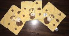 3Stück- Babylove DM Giraffe Gelb Braun Schmusetuch Kuscheltuch Finger Plüschtier