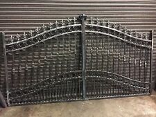 BRAND NEW WROUGHT IRON DRIVEWAY GATES 5FT RISING TO 6FT