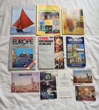 IRELAND TRAVEL BOOKS BROCHURES GUIDES MAP DUBLIN CASTLE BOOK KELLS TWA GETAWAY