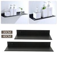 Space aluminum Black Bathroom Shelves Kitchen Wall Shelf Shower Gel Storage Rack